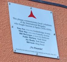 International Brigade plaque in Inchircore