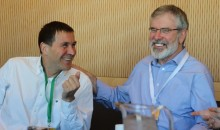 Arnaldo Otegi and Gerry Adams 2016