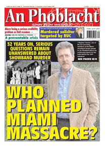 Miami Showband front page