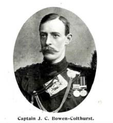 JC Bowen Colthurst, Brit army