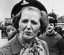Thatcher in BA beret