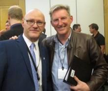 Paul Maskey MP with actor Adrian Dunbar