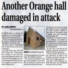 Orange hall burned