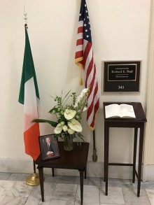 Funeral – Outside Congressman Neal's Office on Capitol Hill
