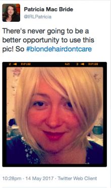 Patricia MacBride tweet blonde