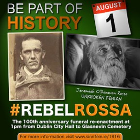 Be Part of History O'Donovan Rossa, 100th Anniversary Commemoration  #rebelrossa