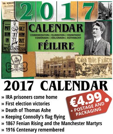 Calendar 2017 advert