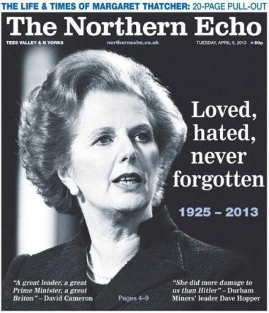 Thatcher Northern Echo