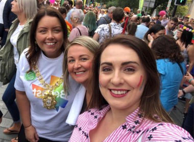 Deirdre Hargey at Pride