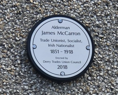 James McCarron Plaque 1