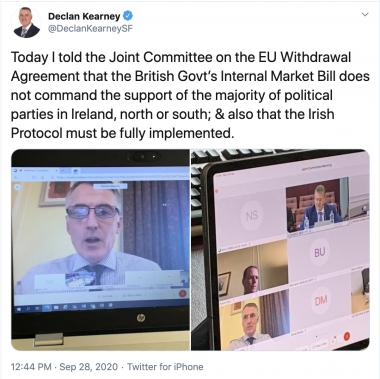 Declan tweet internal market bill