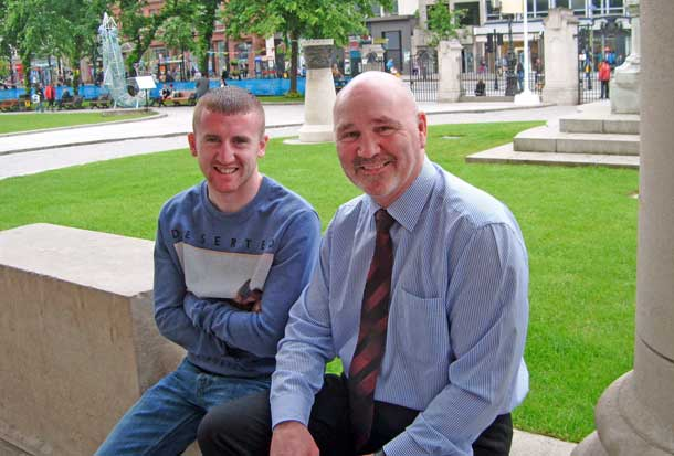 Olympic gold medal hope Paddy Barnes with Alex Maskey for his An Phoblacht interview