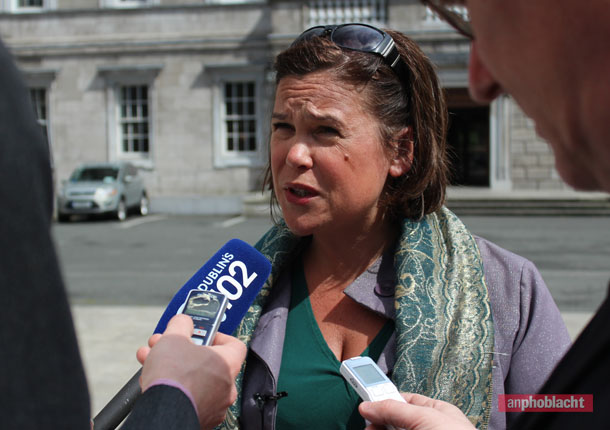 Mary Lou McDonald at Leinster House