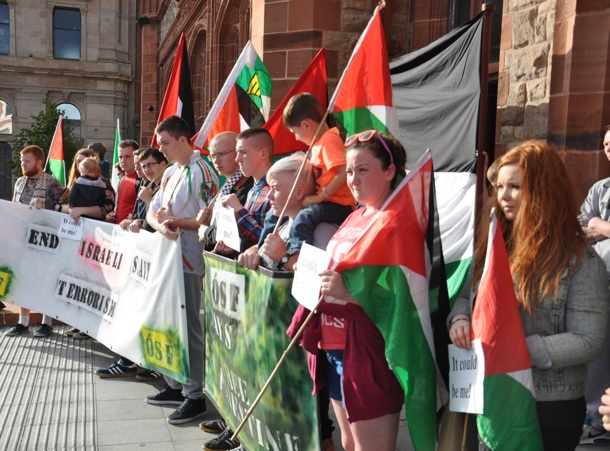 Gaza rally Derry July 2014 youth
