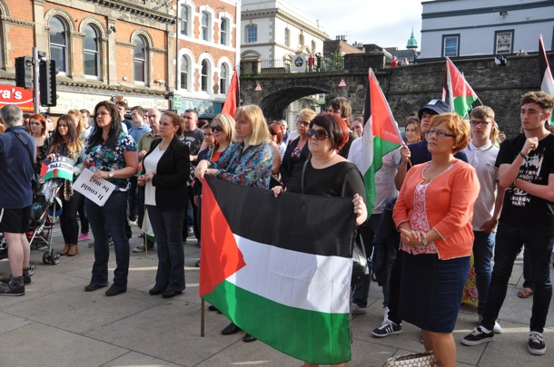 Gaza rally Derry women July 2014
