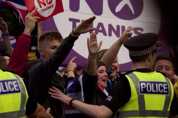Image result for Nazi salutes in glasgow