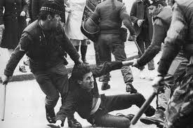 Internment beatings in street