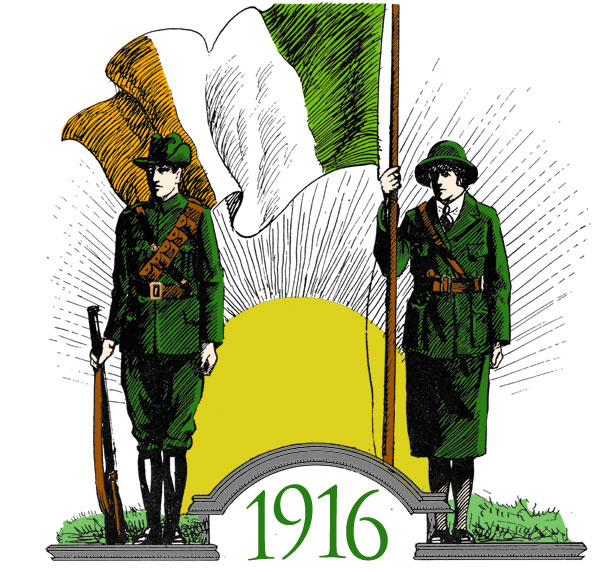 2014 easter commemorations and 1916 proclamation an for Easter rising mural