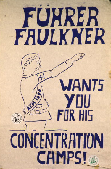 Faulkner internment poster