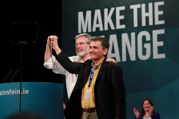 Gerry Adams & Euclid Tsakalotos (SYRIZA)