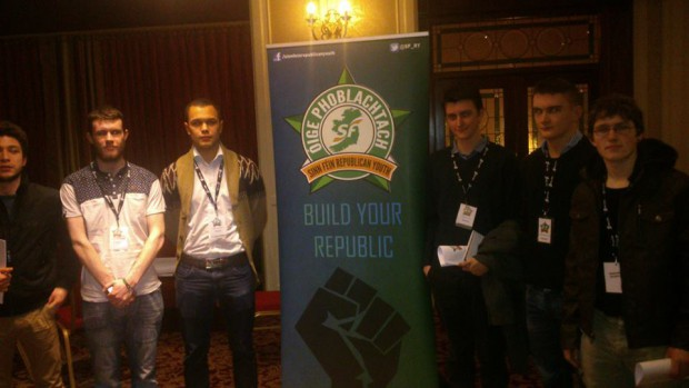 Joe Dwyer at the Youth Congress with delegates from NUI Galway