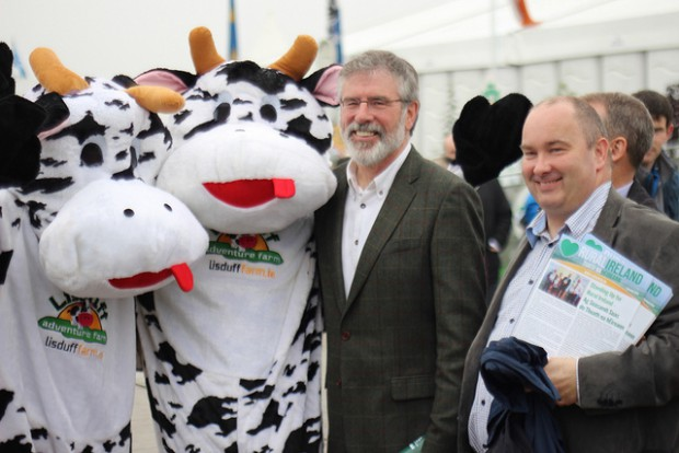 GA with Trevor Ó Clochartaigh, Ploughing 2013, Laois