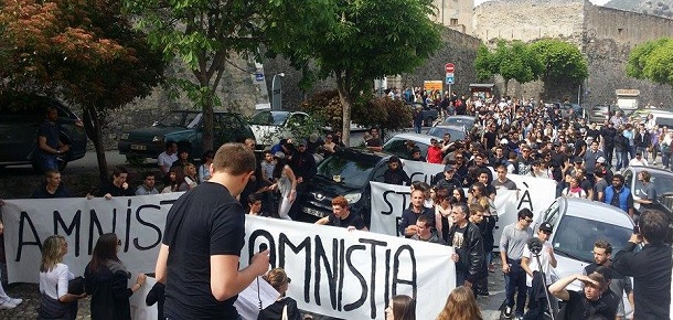 Corsicans demand amnesty for prisoners
