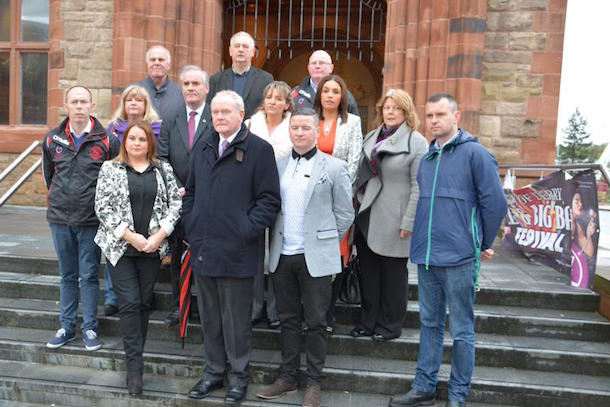Derry SF elected reps after 2015 attacks