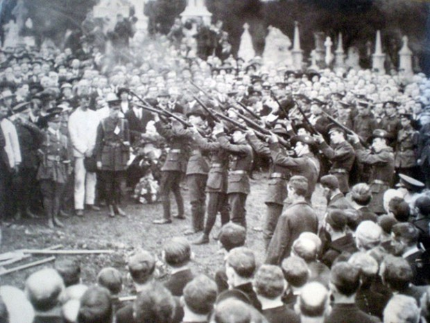 Thomas Ashe funeral volley, 1917