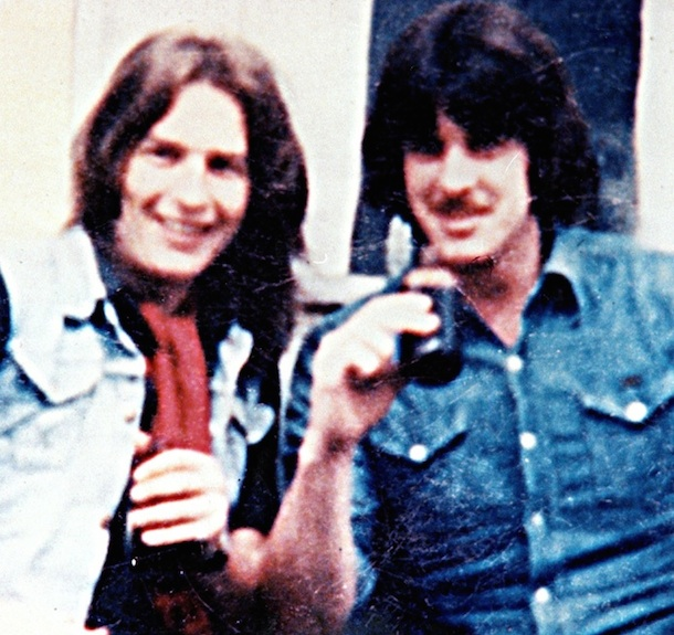 ● Kieran Doherty enjoying his short period of freedom with his friend and comrade, John 'Pickles' Pickering, who later joined the hunger strike on 7 September1981