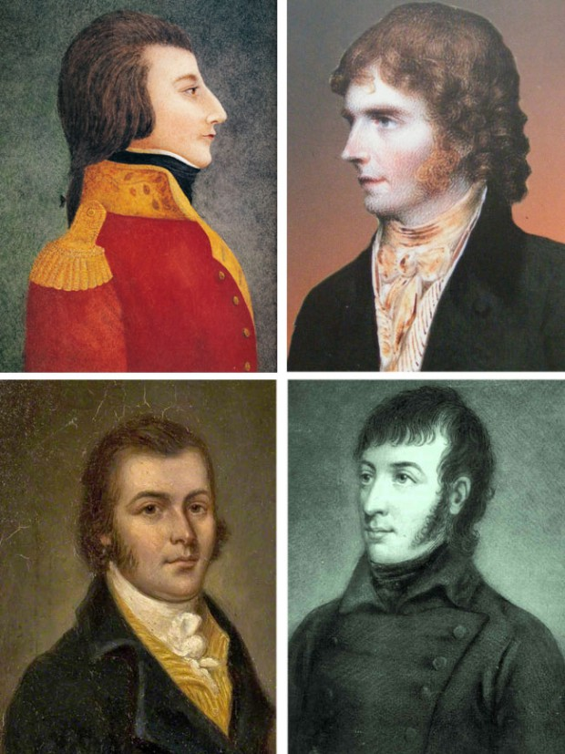 Wolfe Tone, Henry Joy McCracken, Thomas Russell, Samuel Neilson