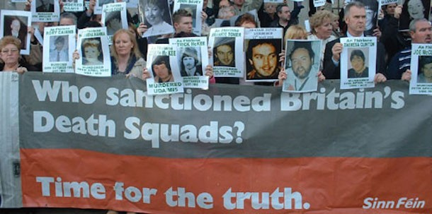 Collusion protest outside MI5 HQ