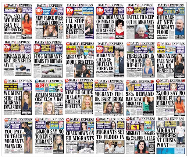 Daily Express Hate Migrants