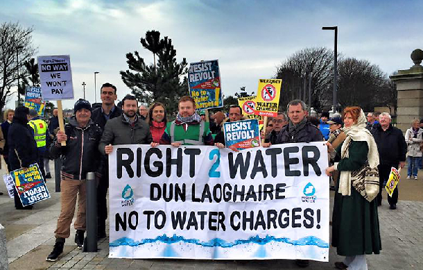 Dun Laoghaire anti-water charges