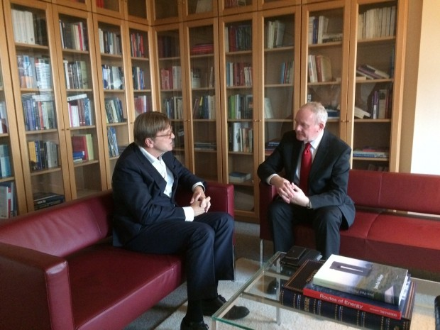 Martin McGuinness meets European Parliament's chief negotiator in the Brexit talks, Gur Verhofstadt MEP