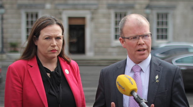 Louise O'Reilly and Peadar Toibin