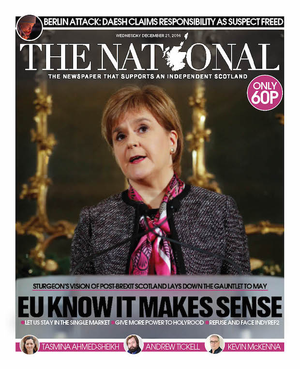 National – Dec 2016 Scot Govt Brexit plan