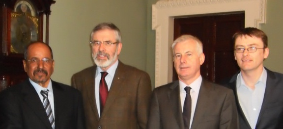 Saharawi Republic President meets Sinn Féin during official visit to Ireland 2012