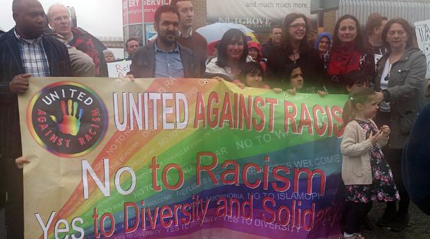 Anti-racist protest in Rathfarnham