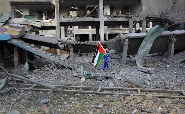 Palestine – Bombed ruins of Palestine Stadium, Gaza (2012)