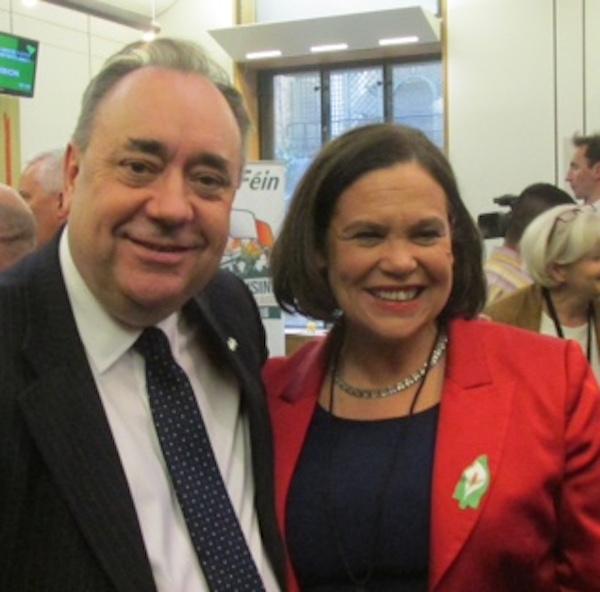 Alex Salmond MP with Mary Lou, April 2016