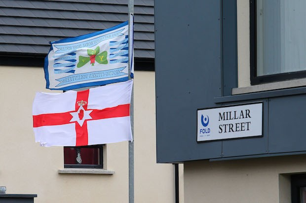 UVF/YCV and Ulster flags housing June 2017