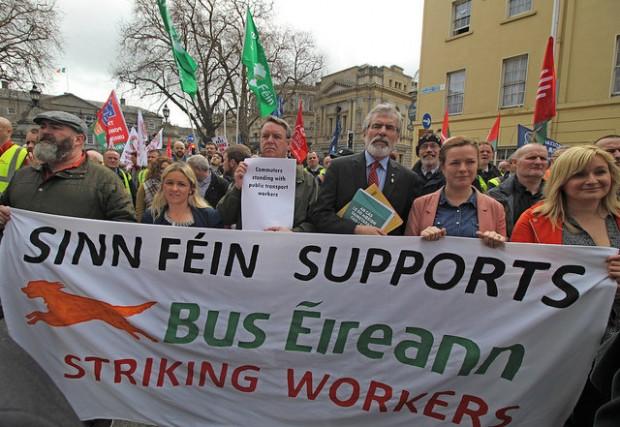Bus Éireann protest 29 March 2017 – Sinn Féin
