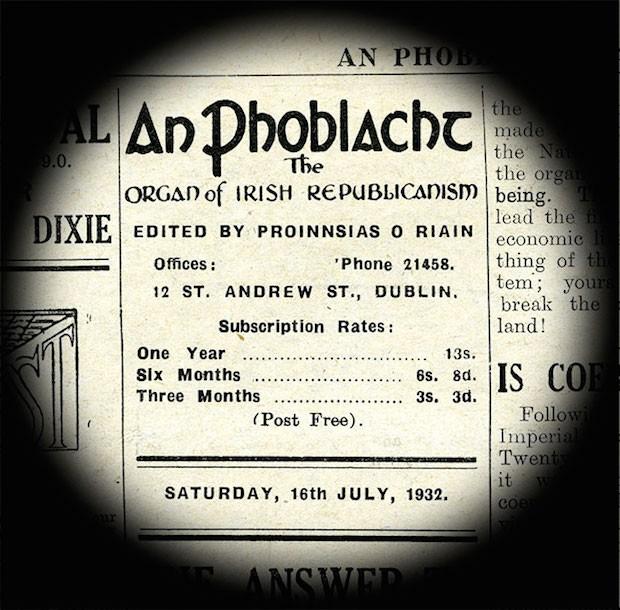 1932 An Phoblacht Frank Ryan Editor