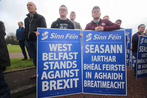Brexit protest – West Belfast youth