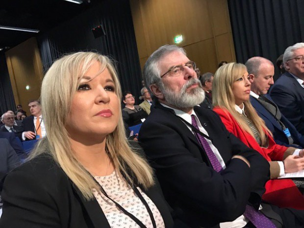 Michelle O'Neill & Gerry Adams 17 Feb Civic Dialogue