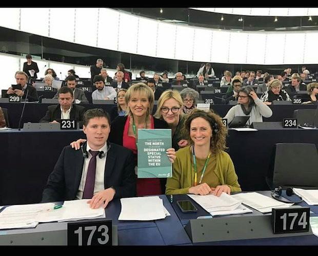 Sinn Féin MEPs Matt Carthy, Martina Anderson, Liadh Ní Riada and Lynn Boylan
