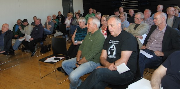 May 2017: Coiste audience of former POWs, including former internees and Blanketmen and Armagh women prisoners