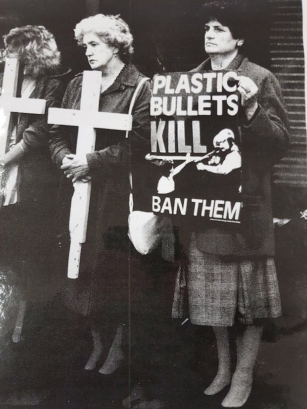 Plastic bullets protest