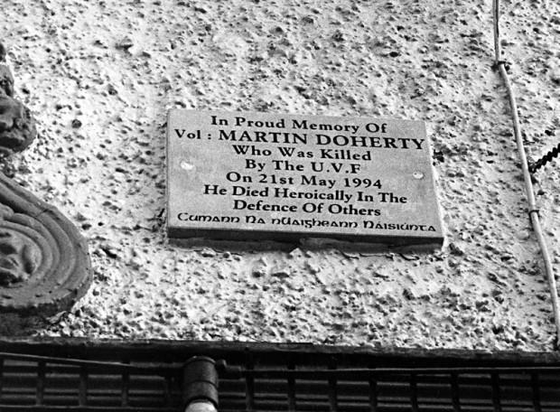 Martin 'Doco' Doherty plaque